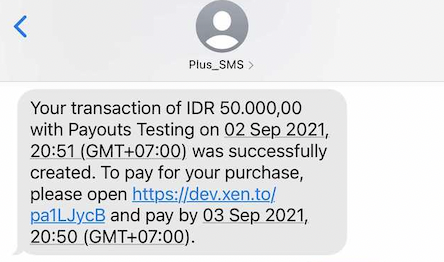 SMS will be sent by Plus_SMS